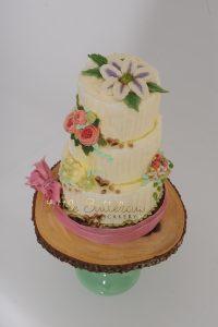 100% buttercream wedding cake
