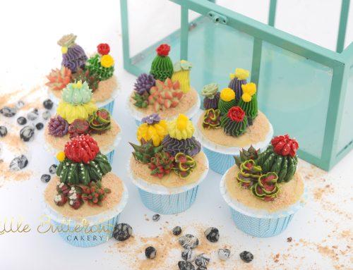 Buttercream Cacti Cupcakes