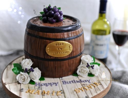 Vineyard Theme Birthday Cake