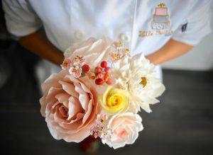 delicate sugar flower bouquet
