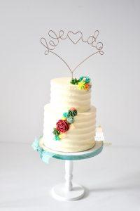 Buttercream Succelent Wedding Cake