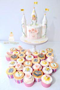 Princess and knight cupcakes