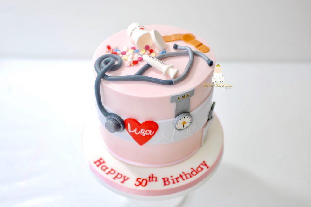 Nurse theme cake