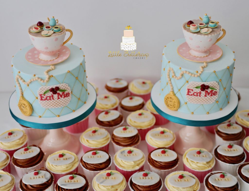 Alice in Wonderland theme cakes