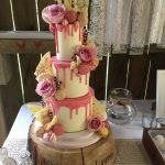 Drip effect wedding cake