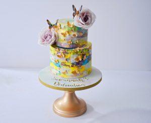 Buttercream Christening cake