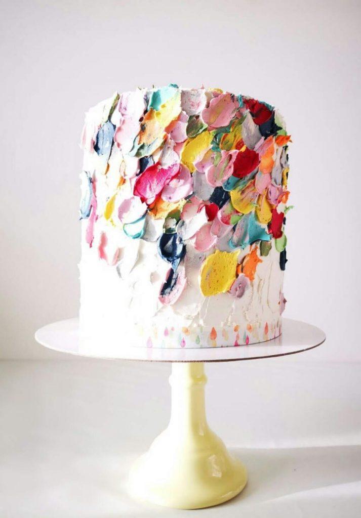 Buttercream rainbow based on Katherine Sabbath' s famous cake design