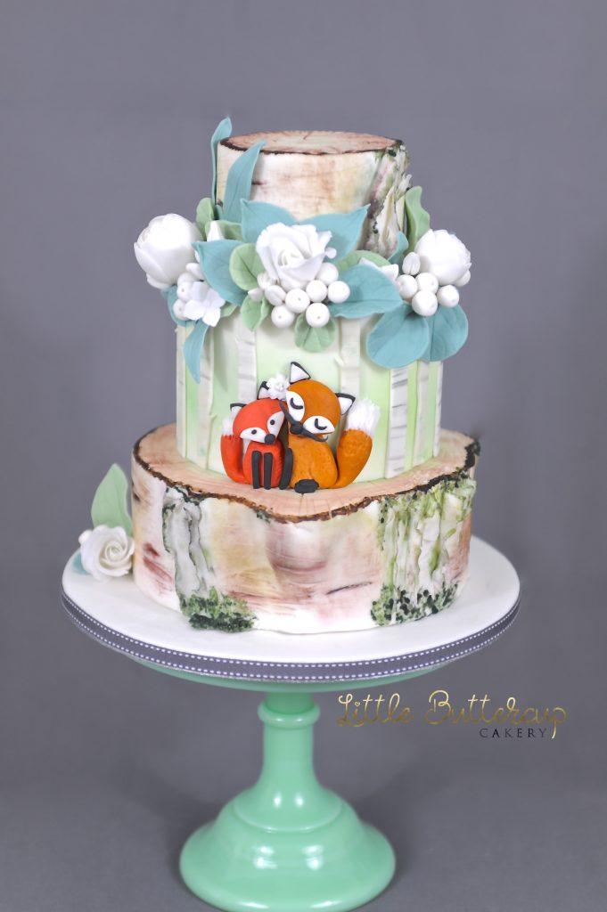 Mr. & Mrs. Fox Wedding cake