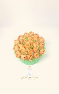 Rose buds cupcakes
