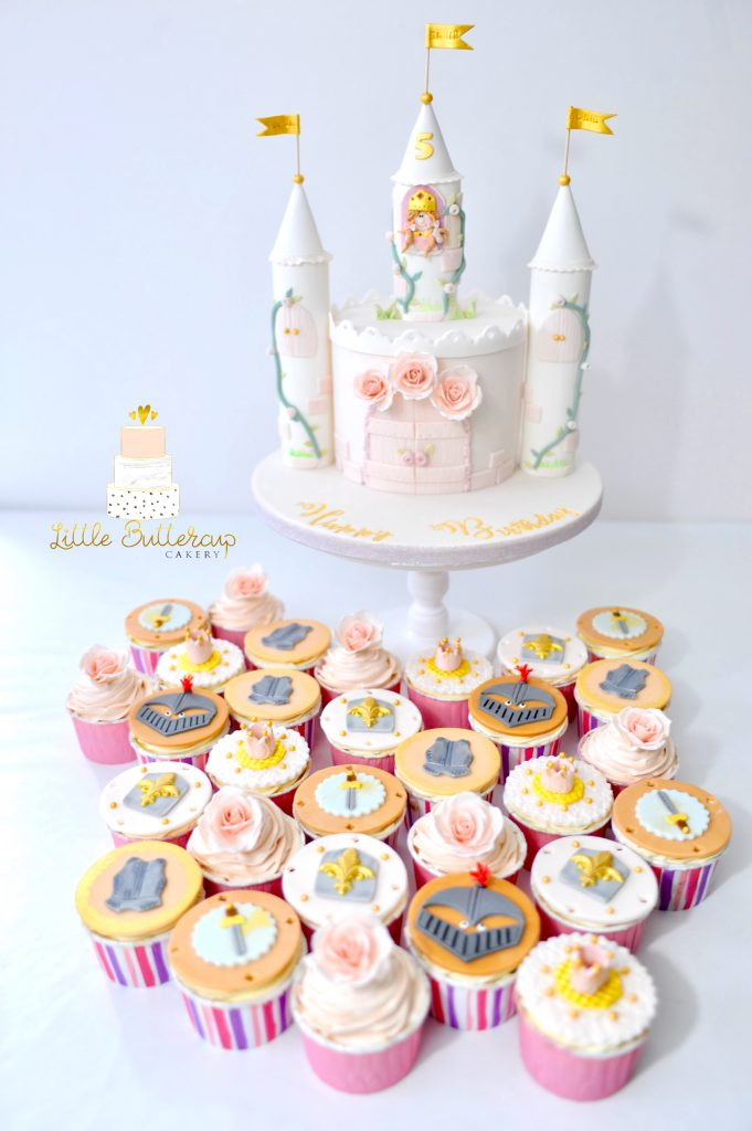 Princess and knight cupcakes
