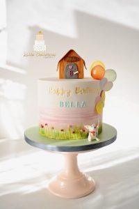Little piglet dog BFF birthday cake