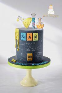 Periodic table cake