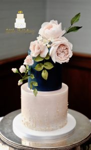 Navy blue and blush pink
